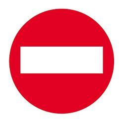 Naljepnica Apli zabranjen ulaz 844