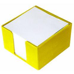 Blok kocka PVC 8x8x5 žuta P50