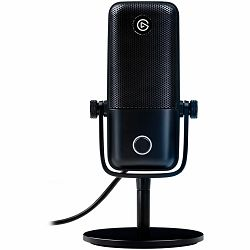 ELGATO Wave:1, Premium USB Condenser Microphone and Digital Mixing Solution, Anti-Clipping Technology, Tactile Mute, Streaming and Podcasting