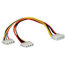 Roline interni Y-naponski kabel, 4-pin HDD - 2×4-pin HDD, 0.3m