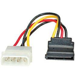 Roline naponski kabel, 4-pin HDD - SATA (90°), 0.1m