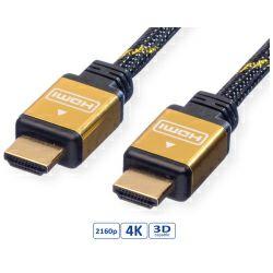 Roline GOLD HDMI kabel sa mrežom, M/M, 1.0m