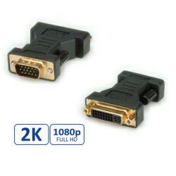 Roline adapter DVI-I (24+5) - VGA, F/M