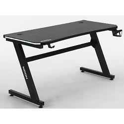 Gaming stol NEON eSports Gamer Elite, LED RGB, držač za čašu, držač za slušalice, 136cm, crni