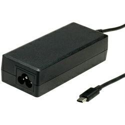 "Roline USB-C strujni adapter, utor za 3-pinski kabel (""Mickey Mouse""), 65W"