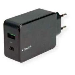 Roline VALUE USB zidni punjač 2-porta (1×USB-C, 1×QC3.0), 33W