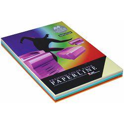 Papir fotok.PAPERLINE A4 10 boja (5 past+5 int) MIX 80gr. 250/1 P10 85S