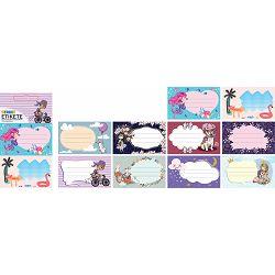Naljepnice za bilježnice STREET KID GIRLS 10 kom bls P24/240/960