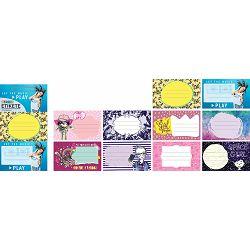 Naljepnice za bilježnice STREET TEEN GIRLS 10 kom bls P24/240/960