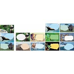 Naljepnice za bilježnice STREET ANIMALS WILD 10 kom bls P24/240/960