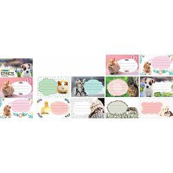 Naljepnice za bilježnice STREET ANIMALS CUTE 10 kom bls P24/240/960