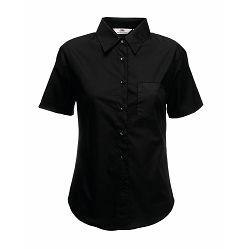 Košulja FOL KR 120g Lady fit Poplin Shirt crna 2XL P12 NETTO 50%