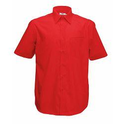 Košulja FOL KR 120g Poplin Shirt crvena L P12 NETTO 50%