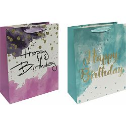 Vrećica L exclusive rođendan glitter 26x32x13 71914 P12/120