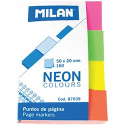 Zastavice označ.MILAN Neon 4bojex40, 50x20mm 87039 P10/240