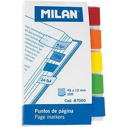 Zastavice označ.MILAN Transparent 5bojax20, 45x12mm 87000 P10/240