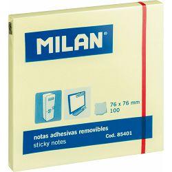 Blok samoljepivi MILAN 76x76 100L žuti 85401 P10/120