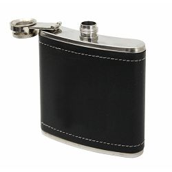 Pljoska FIRING 150ml obložena crnom umjetnom  kožom P1/100