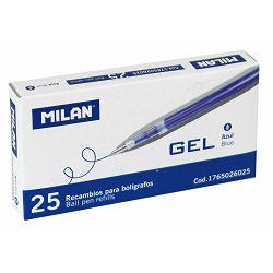 Uložak za Gel pen MILAN plavi 0,7 P25 NETTO