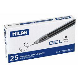 Uložak za Gel pen MILAN crni 0,7 P25 NETTO