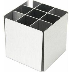 Čaša za olovke Alu četvrtasta 6,2 x 6,2 x 6 cm P1