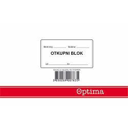 Otkupni blok sa izjavom EC-VII-8/NCR OPTIMA P10/80