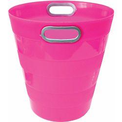 Koš za smeće pvc ARK 1051 fluo roza P40