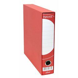 Registrator A4-50 kutija OPTIMA SILVER uski crveni P10