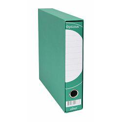 Registrator A4-50 kutija OPTIMA SILVER uski zeleni P10