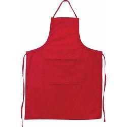 Pregača kuhinjska Master Flex sa džepom, pamučna L/XL crvena  P1/100