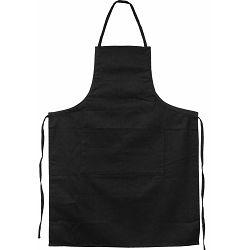Pregača kuhinjska Master Flex sa džepom, pamučna L/XL crna P1/100