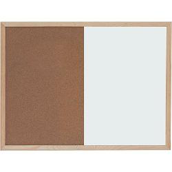 Ploča bijela magnetna/pluto zidna OPTIMA 90x120cm, drv.okvir 22374 P1/5