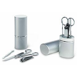 Manikir set 4-djelni Silkin 12x4,3x3 cm u srebrnoj tubi P144