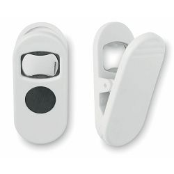Otvarač Clippy bijeli sa magnetom, 8x4x3,5 cm P400 NETTO