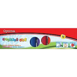 Plastelin OPTIMA 200g, 10 boja u karton.kutiji 100101 P12/96
