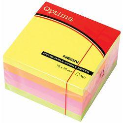 Blok samolj.kocka 76x76 neon 5 boja OPTIMA 450L 22937 P32
