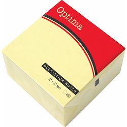 Blok samolj.kocka 76x76 žuta OPTIMA 450L 22916B P12/72