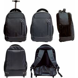 Ruksak poslovni Hybrid troley, za laptop 46x31x14 cm, crni 1/4