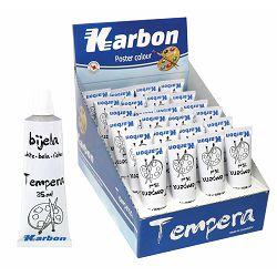Tempera bijela u tubi 35ml KARBON  P12/72