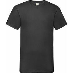 Majica FOL T-shirt KR V-izrez 165g crna L P72