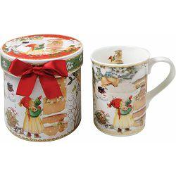 Šalica keram. božićna u darovnoj kutiji 12.3x12.3x11.2 cm 52963 NETTO