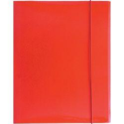 Fascikl kartonski/lak s gumicom A4 400gr OPTIMA crveni 60582 P50
