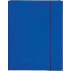 Fascikl kartonski/lak s gumicom A4 400gr OPTIMA plavi 60580 P50
