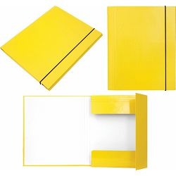 Mapa kartonska s gumicom lak A4/1 cm OPTIMA žuta 24533 P20