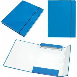 Mapa kartonska s gumicom lak A4/3 cm OPTIMA plava 22490 P10