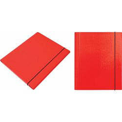 Mapa kartonska s gumicom lak A4/1 cm OPTIMA crvena 24531 P20