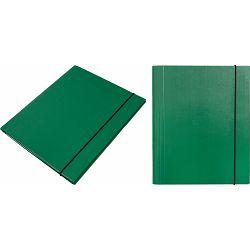 Mapa kartonska s gumicom lak A4/1 cm OPTIMA zelena 24534 P20