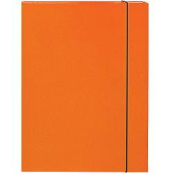Mapa kartonska s gumicom lak A4/3 cm OPTIMA narančasta 22494 P10