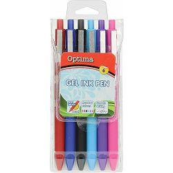 Gel pen 0,7 OPTIMA Soft Touch 461 6/1 100928 bls P12/144/1728