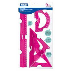 Geometrijski set veliki MILAN flex.resistant rozi bls P24/96